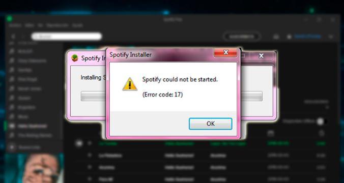 Error 17: una falla de Spotify muy común en la actualidad. Acá te decimos como solucionarlo.
